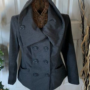 Dollhouse DoubleBreast PeaCoat Oversize Cowl LG